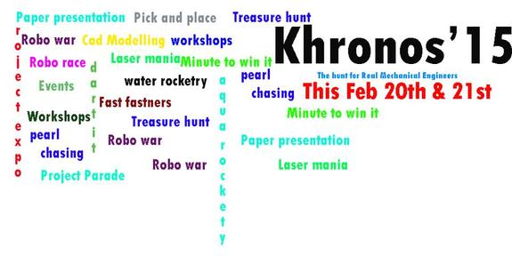khronos 2k15, Achariya college of Engineering Technology, February 20-21 2015, Puducherry, Pondicherry