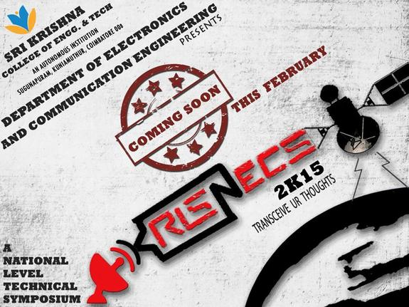 KRISNECS 2015, Sri Krishna College Of Engineering And Technology, 20 Feb 2015, Coimbatore, Kuniyamuthur.