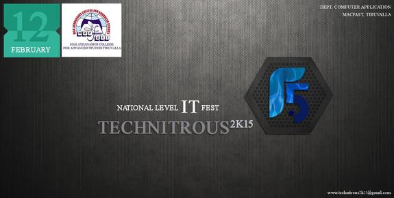 Technitrous 2k15, Mar Athanasios College for Advanced Studies Tiruvalla, February 13-14 2015, Tiruvalla, Kerala