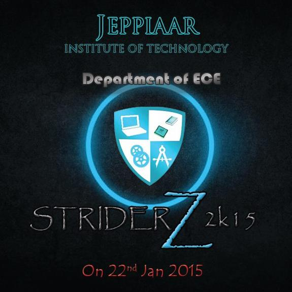 STRIDERZ 2K15, Jeppiaar Institute of Technology, January 22 2015, Chennai, Tamil Nadu
