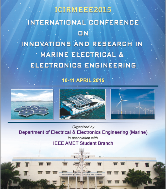 ICIRMEEE 2015, Amet University, April 10-11 2015, Kanchipuram, Tamil Nadu