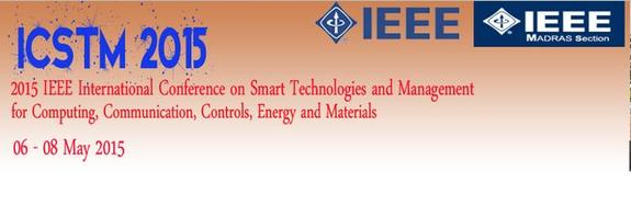 ICSTM 2015, Vel Tech University, May 6-8 2015, Chennai, Tamil Nadu