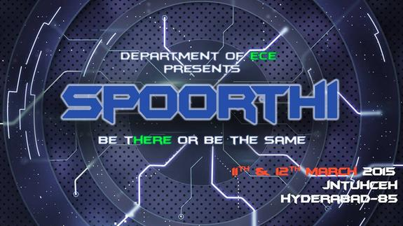 SPOORTHI 2015, JNTUH College of Engineering Hyderabad, March 11-12 2015, Hyderabad, Telangana