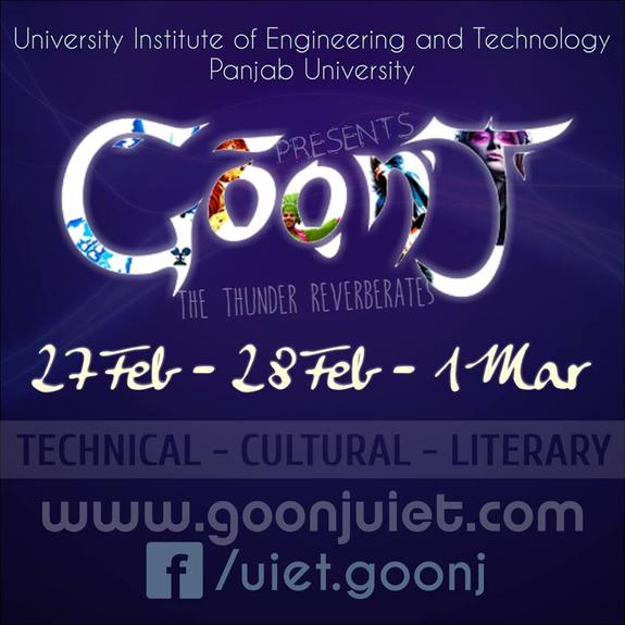 Goonj 2015, University Institute of Engineering And Technology, February 27-March 1 2015, Chandigarh, Punjab
