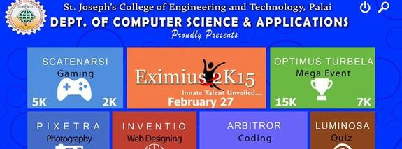 Eximius 2015, St Josephs College of Engineering and Technology, February 27 2015, Palai, Kerala