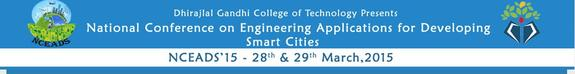 NCEADS 2015, Dhirajlal Gandhi College of Technology, March 28-29 2015, Salem, Tamil Nadu