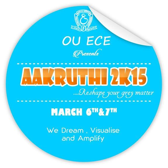 Aakruthi 2015, University College of Engineering, March 6-7 015, Hyderabad, Telangana