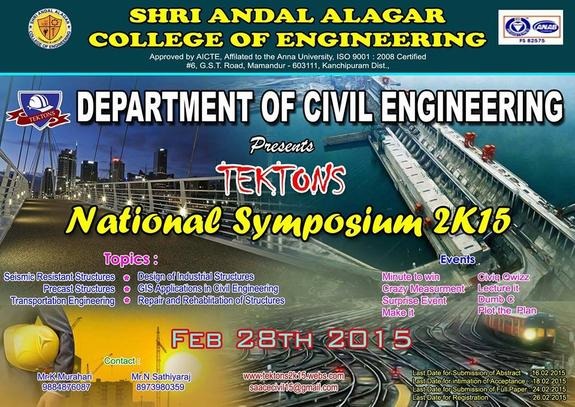 Tektons 2k15, Shri Andal Alagar College of Engineering SAACE, February 28 2015, Chennai, Tamil Nadu