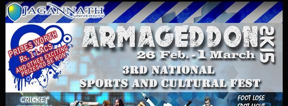 ARMAGEDDON 2K15, Jagannath University, February 26-March 1 2015, Jaipur, Rajasthan