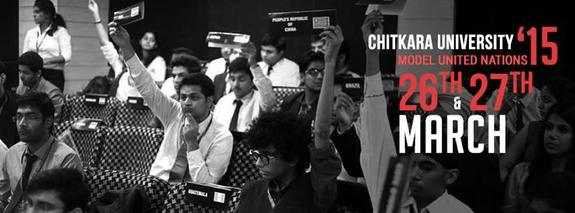 Chitkara Model United Nations 2015, Chitkara University Chandigarh, March 26-27 2015, Patiala Chandigarh