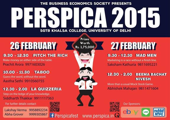Perspica 2015, SGTB Khalsa College, February 26-27 2015, New Delhi, Delhi
