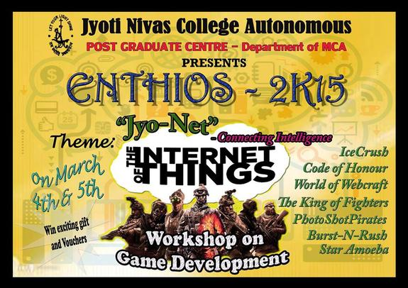Enthios 2015, Jyoti Nivas College, March 4-5 2015, Banglore, Karnataka
