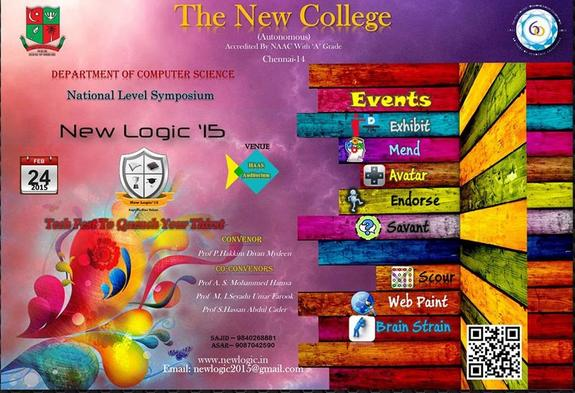New Logic 15, The New College (Autonomous), February 24-25 2015, Chennai, Tamil Nadu