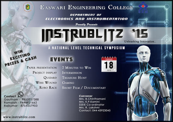Instrublitz 2015, Easwari Engineering College, February 18 2015, Chennai, Tamil Nadu