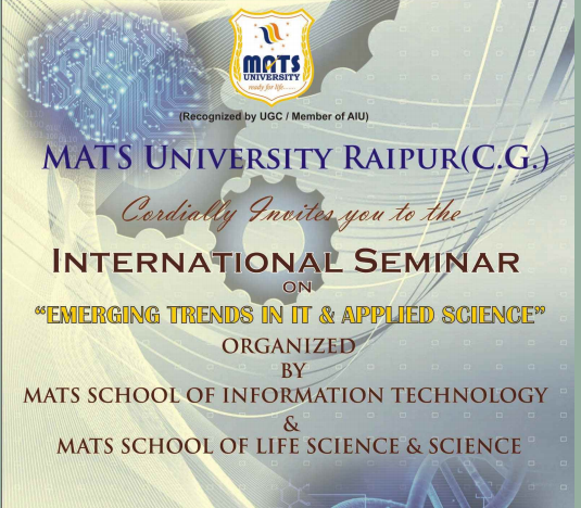 International Seminar On Emerging Trends in IT And Applied Science, MATS University, March 28-30 2015, Raipur, Chhattisgarh