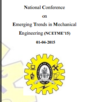 NCETME 15, SNS College of Technology, April 1 2015, Coimbatore, Tamil Nadu