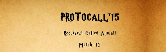 PROTOCALL 2K15, Tamilnadu College of Engineering, March 13 2015, Coimbatore, Tamil Nadu
