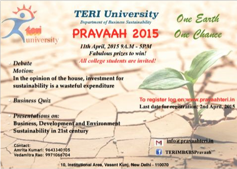 Pravaah 15, Teri University, April 11 2015, New Delhi, Delhi