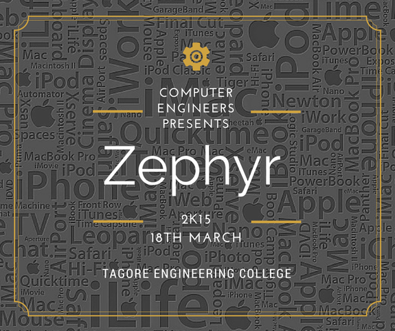 Zephyr 2k15, Tagore Engineering College, March 18 2015, Chennai, Tamil Nadu