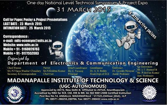 Eclectica 2015, Madanapalle Institute of Technology and Science, March 31 2015, Madanapalle, Andhra Pradesh