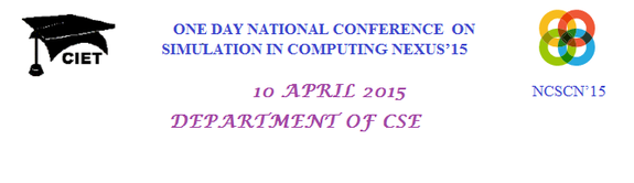 NCSCN 15, Coimbatore Institute of Engineering and Technology, April 10 2015, Coimbatore, Tamil Nadu