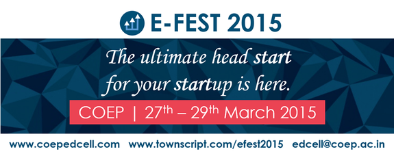 COEP E-FEST 2015, College of Engineering Pune, March 27-29 2015, Pune, Maharashtra
