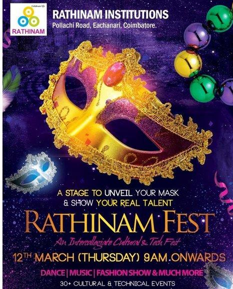 RATHINAM FEST 2015, Rathinam College of Arts and Science, March 12-14 2015, Coimbatore, Tamil Nadu