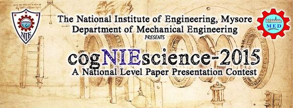 cogNIEscience 2015, National Institute of Engineering, June 9 2015, Mysore, Karnataka