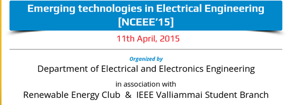 NCEEE 15, Valliammai Engineering College, April 11 2015, Chennai, Tamil Nadu