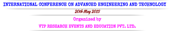ICAET 2015, VTP Research Events and Education Private Limited,  May 20 2015, Salem, Tamil Nadu