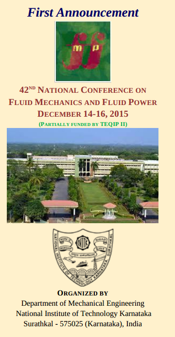 FMFP 2015, National Institute of Technology Karnataka, December 14-16 2015, Surathkal, Karnataka