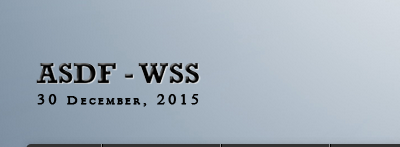 ASDF World Security Summit 2015, Association of Scientists Developers and Faculties, December 30 2015, Banglore, Karnataka