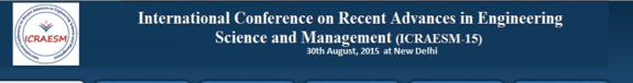 International Conference on Recent Advances in Engineering Science and Management 15, A R Research Publication and T.R Publication, August 30 2015, New Delhi, Delhi