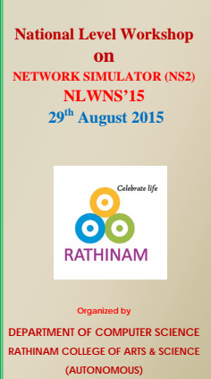 National Conference on Research Issues in Big Data, Rathinam College of Arts and Science, August 29 2015, Coimbatore, Tamil Nadu