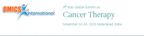 9th Indo Global Summit on Cancer therapy, Omics International, November 02-04 2015, Hyderabad, Telangana