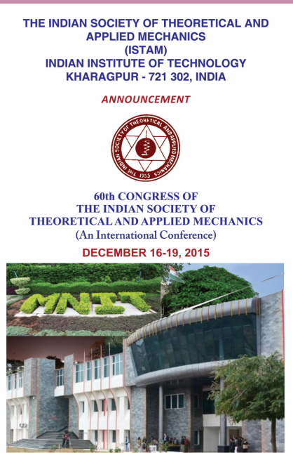 Congress of The Indian Society of Theroretical and Applied Mechanics, Indian Institute of Technology, December 16-19 2015, Kharagpur, West Bengal
