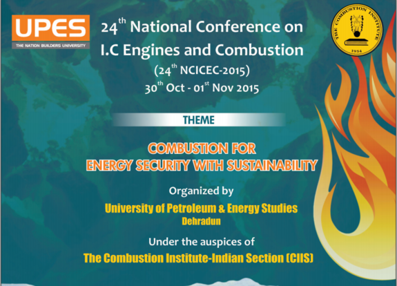 24th National Conference on IC Engines and Combustion, University of Petroleum and Energy Studies, October 30-November 1 2015, Dehradun, Uttarakhand