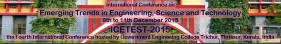 International Conference on  CHANGING CITIES Challenges to Urban Planning and Design 2015, Govt. Engineering College, December 9-11 2015, Thrissur, Kerala