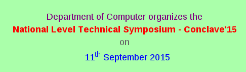 Conclave 15, Rathinam College of Arts and Science, September 11 2015, Coimbatore, Tamil Nadu