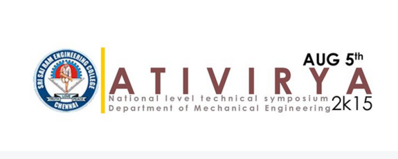 ATIVIRYA 2K15, Sri Sairam Engineering College, August 5 2015, Chennai, Tamil Nadu