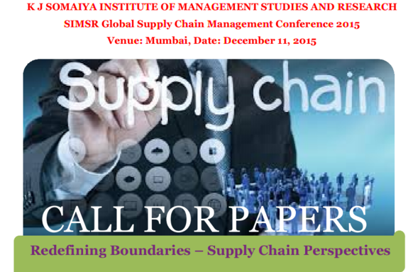 SIMSR Global Supply Chain Management Conference 2015, K J Somaiya Institute of Management Studies and Research, December 11 2015, Mumbai, Maharashtra