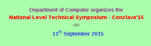 Conclave15, Rathinam College of Arts and Science, September 11 2015, Coimbatore, Tamil Nadu