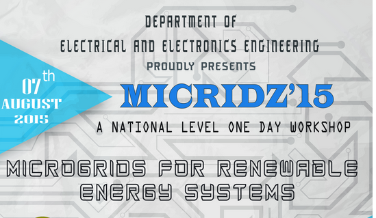 MICRIDZ 15, Sri Ramakrishna Engineering College, August 7 2015, Coimbatore, Tamil Nadu