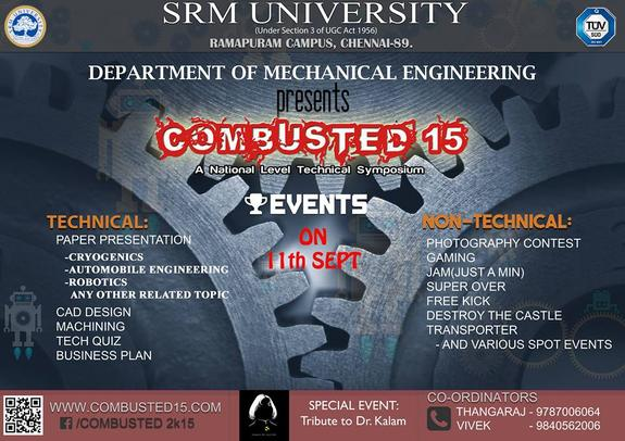 Combusted 15, SRM University, September 11 2015, Chennai, Tamil Nadu