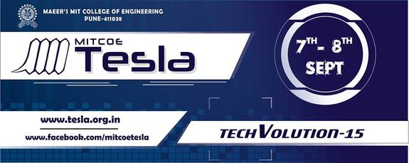Tesla 2015, MIT College of Engineering, September 7-8 2015, Pune, Maharashtra