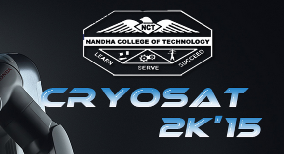 Cryosat 2k15, Nandha College of Technology, September 19 2015, Erode, Tamil Nadu