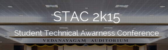 Stac 2K15, Bannari Amman Institute of Technology, September 30 2015, Erode, Tamil Nadu