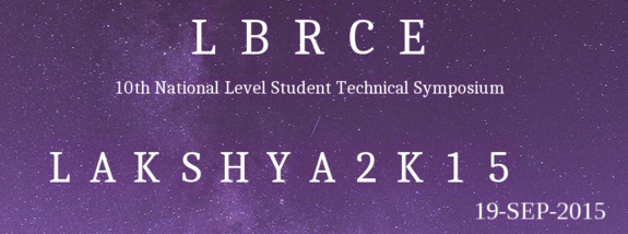 Lakshya 2K15, Lakireddy Balireddy College of Engineering, September 19 2015, Mylavaram, Andhra Pradesh