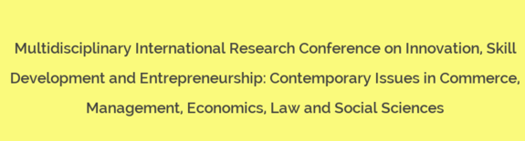 Multidisciplinary International Research Conference, Anandi Arts Commerce and Science College, October 10 2015, Kolhapur, Maharashtra