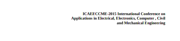 ICAEECCME 2015, AETS JOURNAL Publishers Distributors Pvt Ltd, November 24 2015, Coimbatore, Tamil Nadu